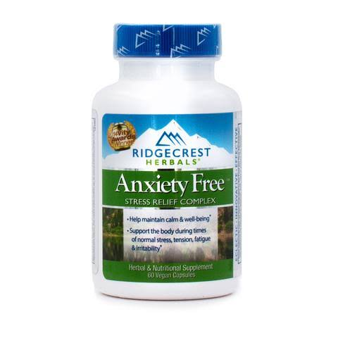 Ridgecrest Herbals Anxiety Free Stress Relief Formula - 60 Count