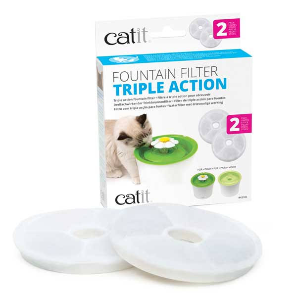 Catit Triple Action Fountain Filter - x2