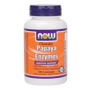 Now Foods Chewable Papaya Enzymes - 180 Lozenges