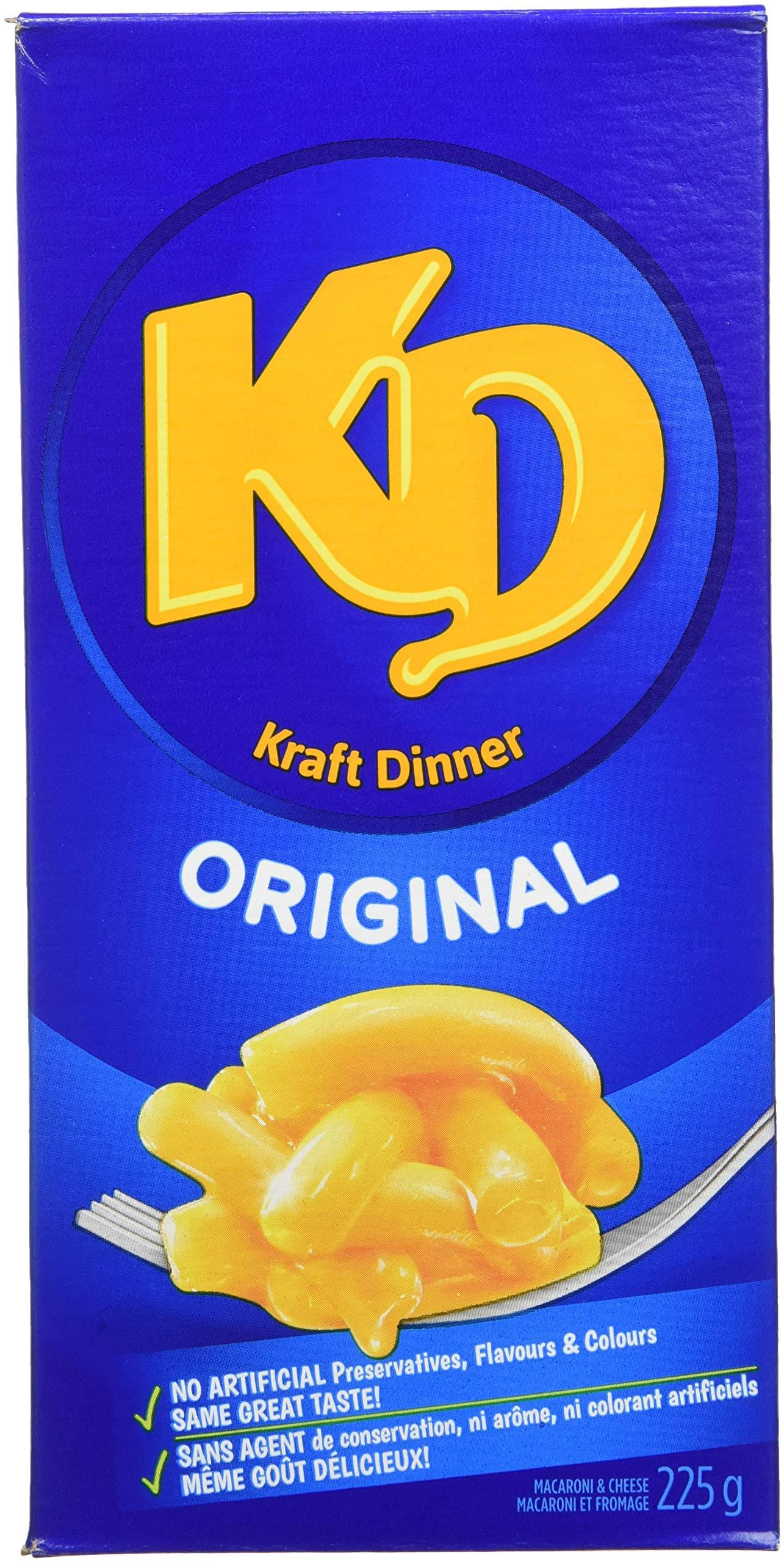 Kraft Dinner Original Macaroni & Cheese - 225g, 12pk