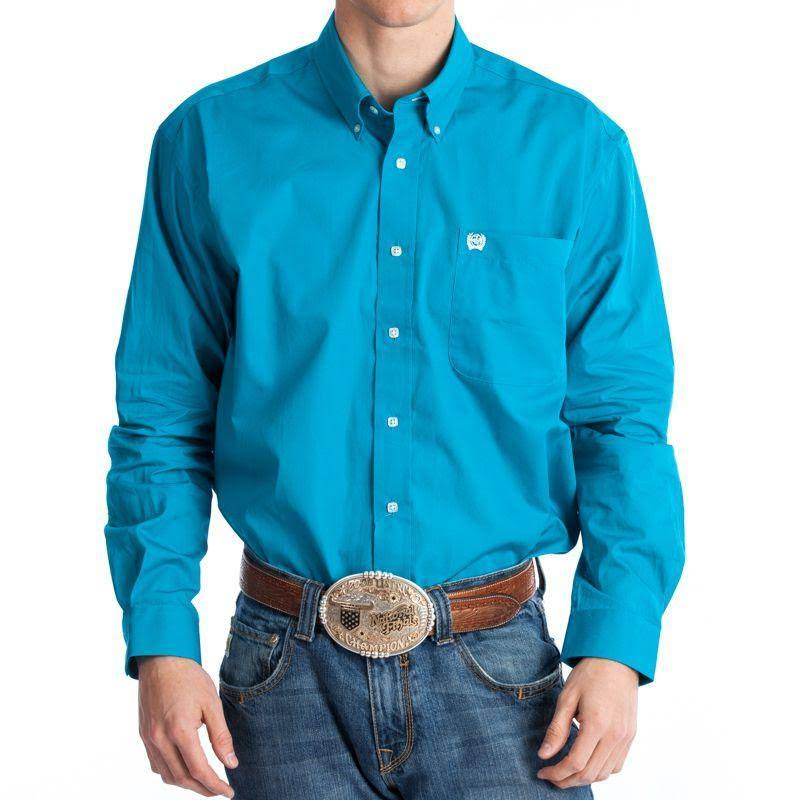 Cinch Western Shirt Mens L/S Button Down Solid MTW1103800