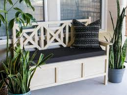 Build Outdoor Storage Bench by How To Build An Outdoor Bench With Storage Hgtv