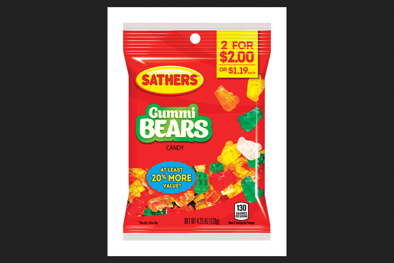 Sathers Gummi Bears - 4.25 oz packet