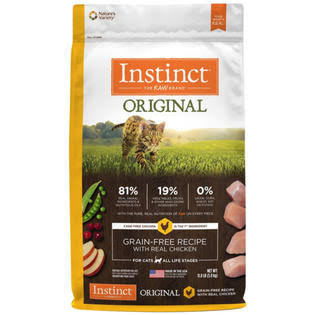 Nature's Variety Instinct Grain Free Recipe with Real Chicken Natural Dry Cat Food - Original, 11lbs