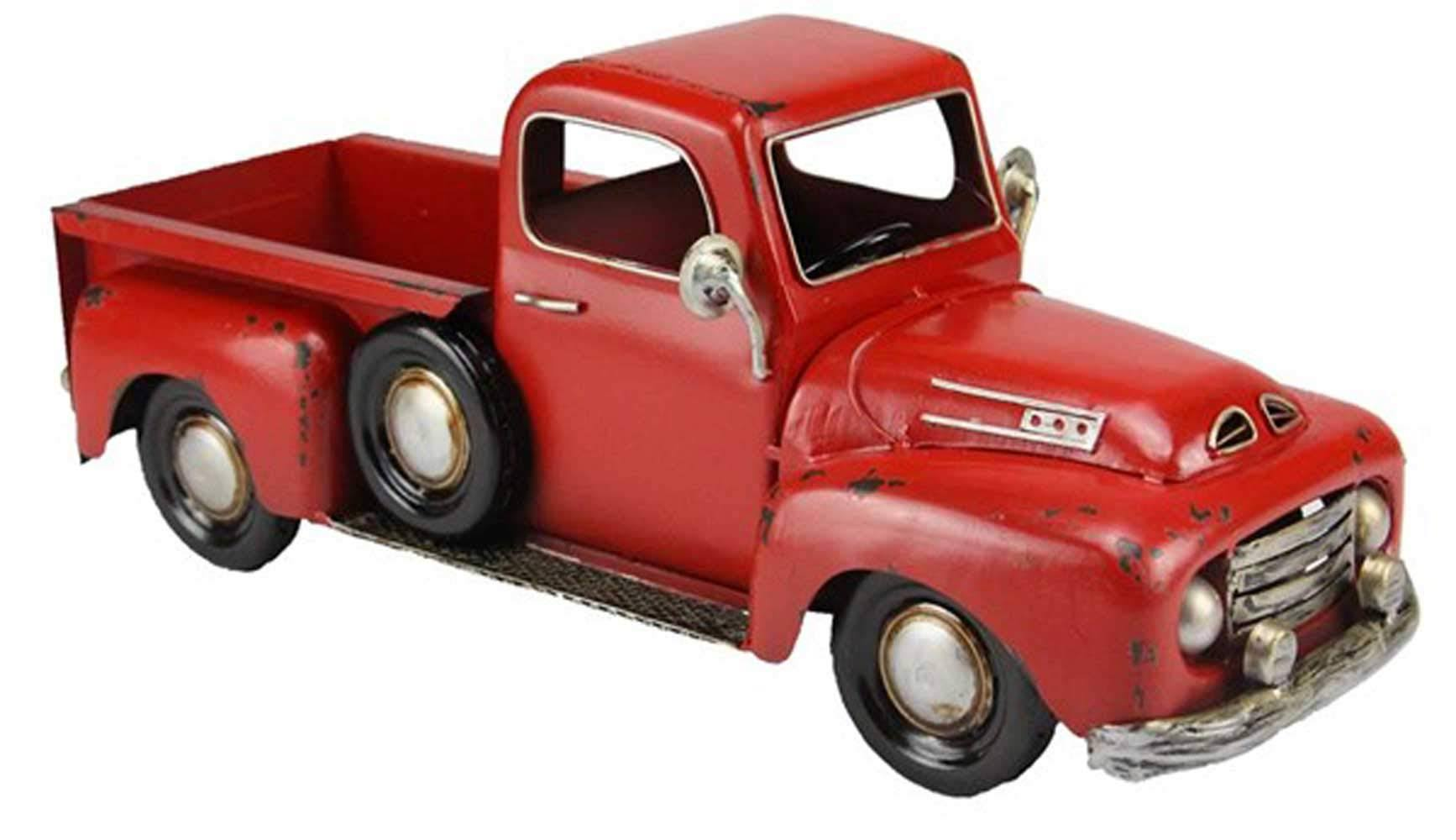 Craig Bachman Red Metal Truck Planter