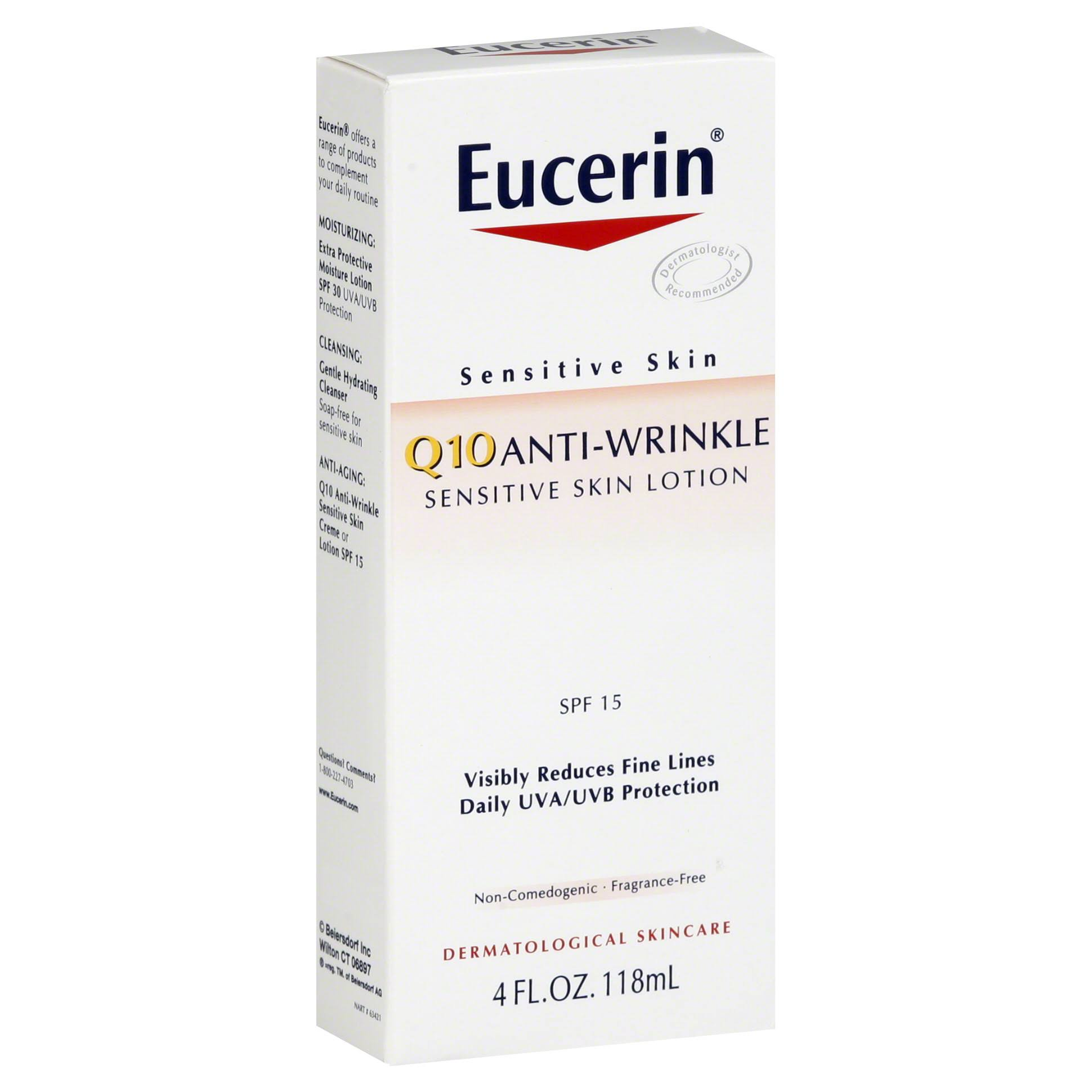 Eucerin Q10 Anti-Wrinkle Sensitive Skin Lotion - SPF15, 4oz