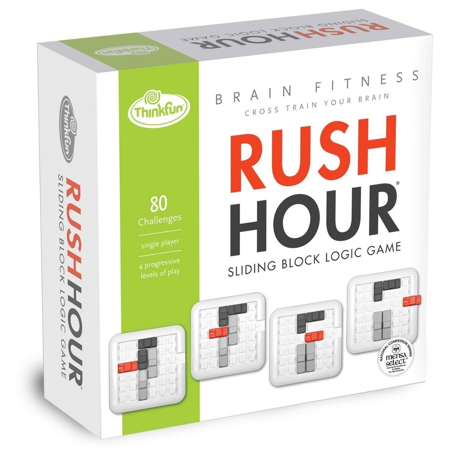 Think Fun Brain Fitness Rush Hour Board Game