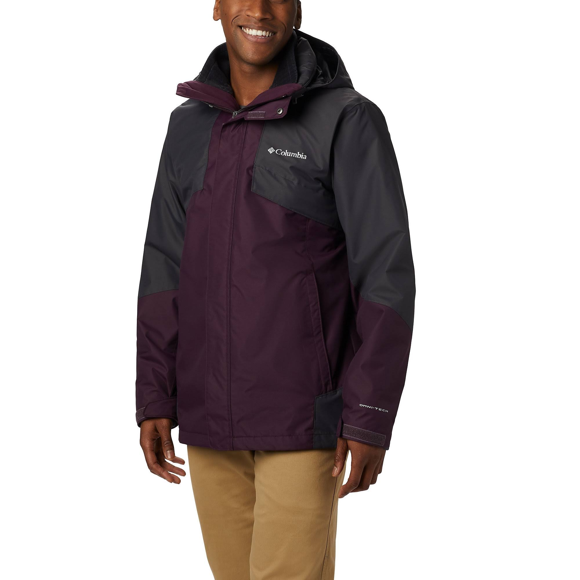 Columbia Bugaboo II Interchange Jacket - Men's Black Cherry/Shark, M