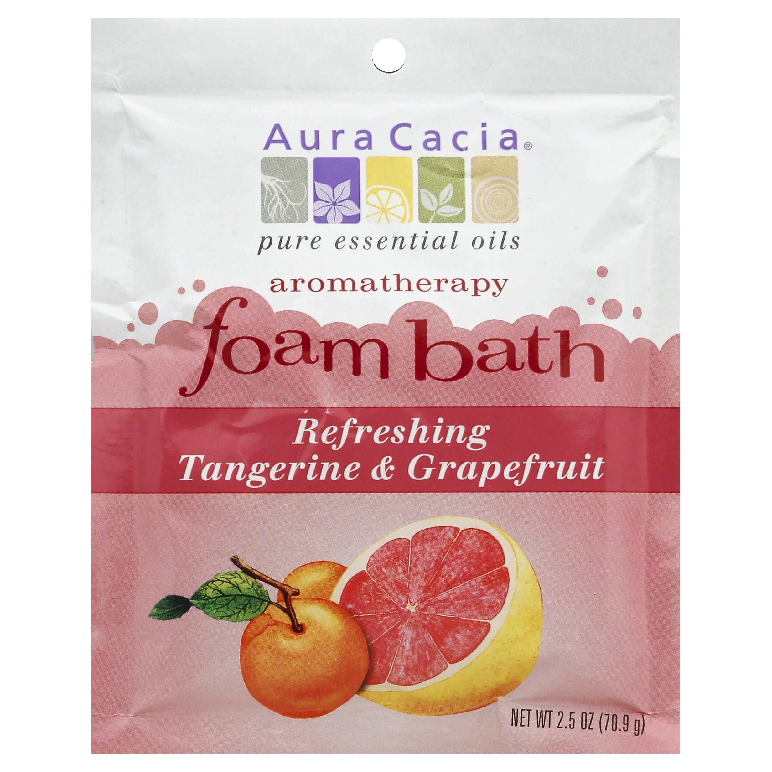 Aura Cacia Aromatherapy Foam Bath - Refreshing Tangerine and Grapefruit, 2.5oz