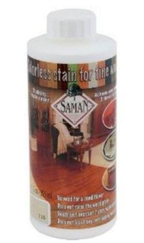 Saman Interior Water Based Stain for Fine Wood - Whitewash, 12oz