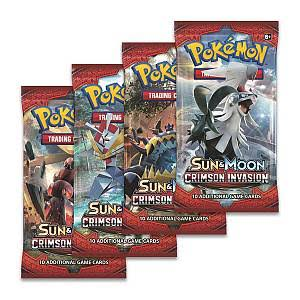 Pokemon Sun and Moon Crimson Invasion Boosterpack Trading Card