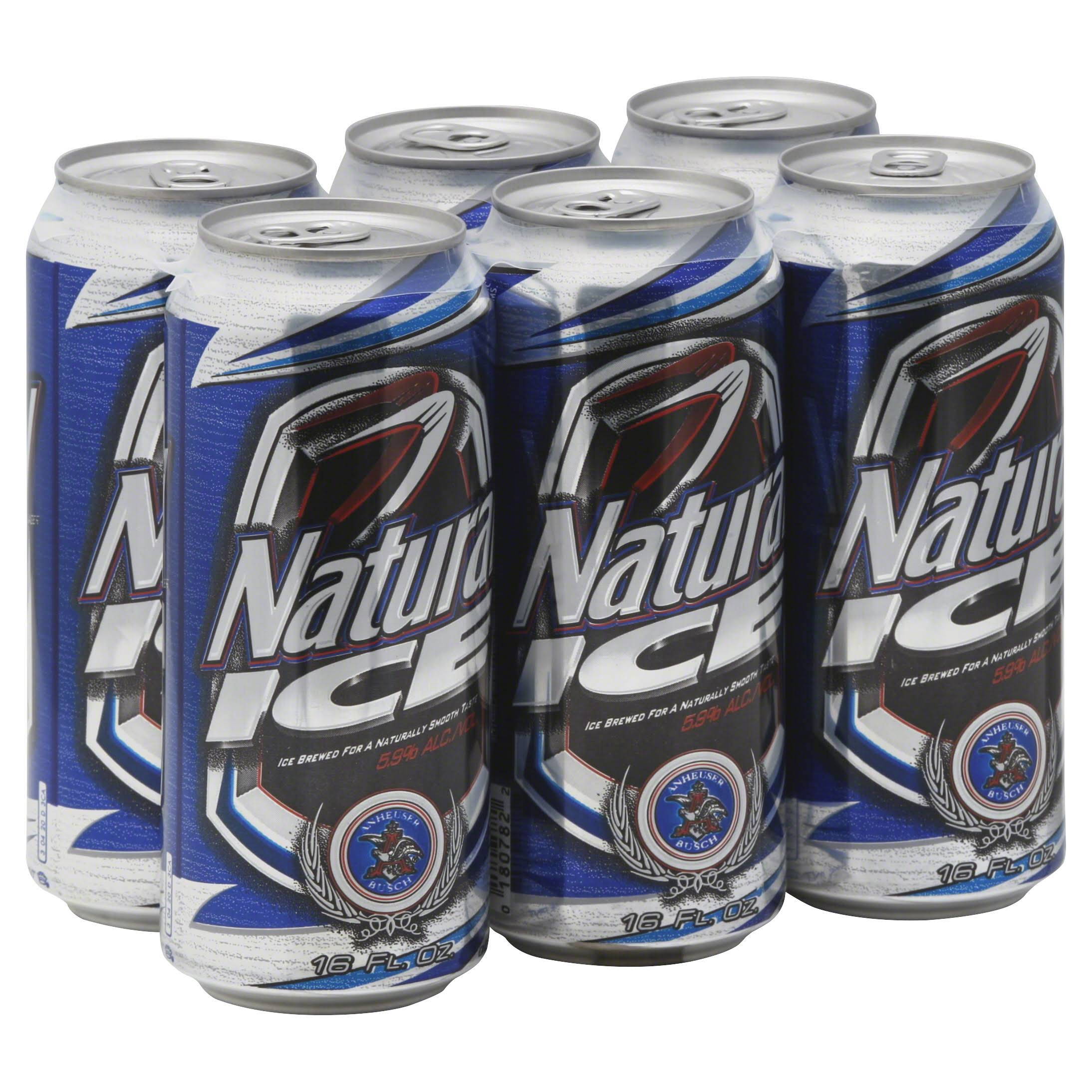 Natural Ice Lager Beer - x6