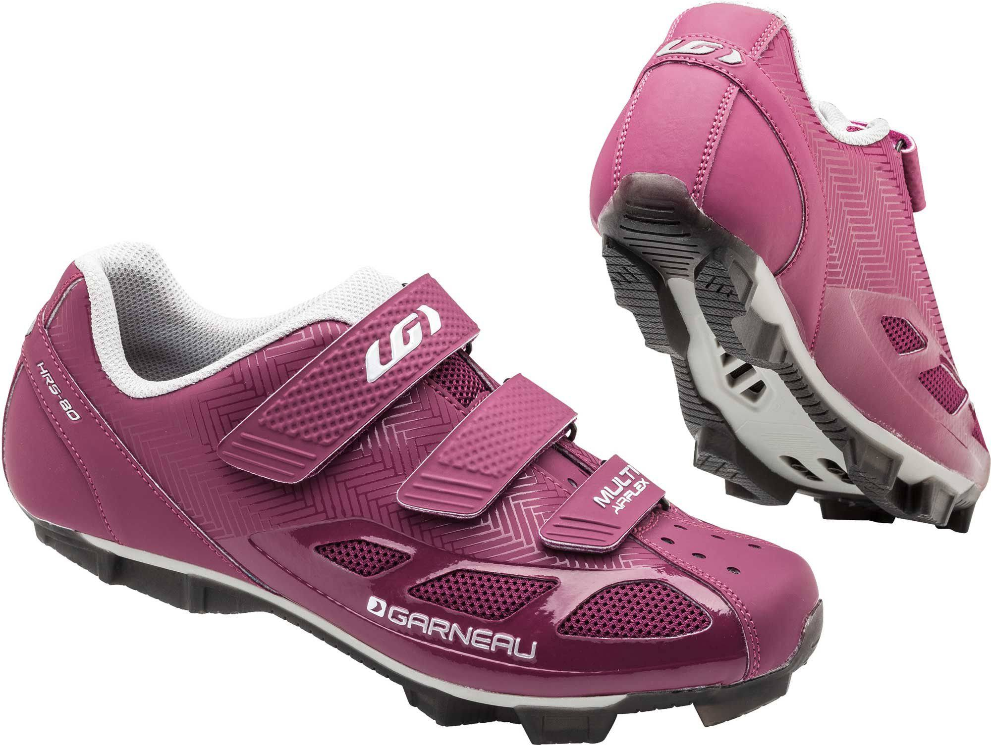 Louis Garneau Women's Multi Air Flex Cycling Shoes - Magenta and Drizzle, 7.5 US
