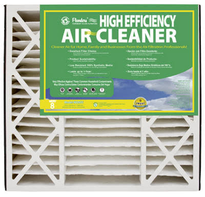 "Flanders Residential Air Cleaner Furnace Filter Cartridge - 2 Filters, Grille, 20"" X 25"" X 5"""