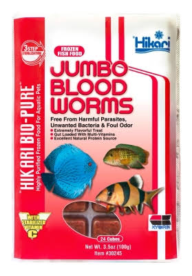 Hikari Bio-Pure Frozen Blood Worms Fish Food