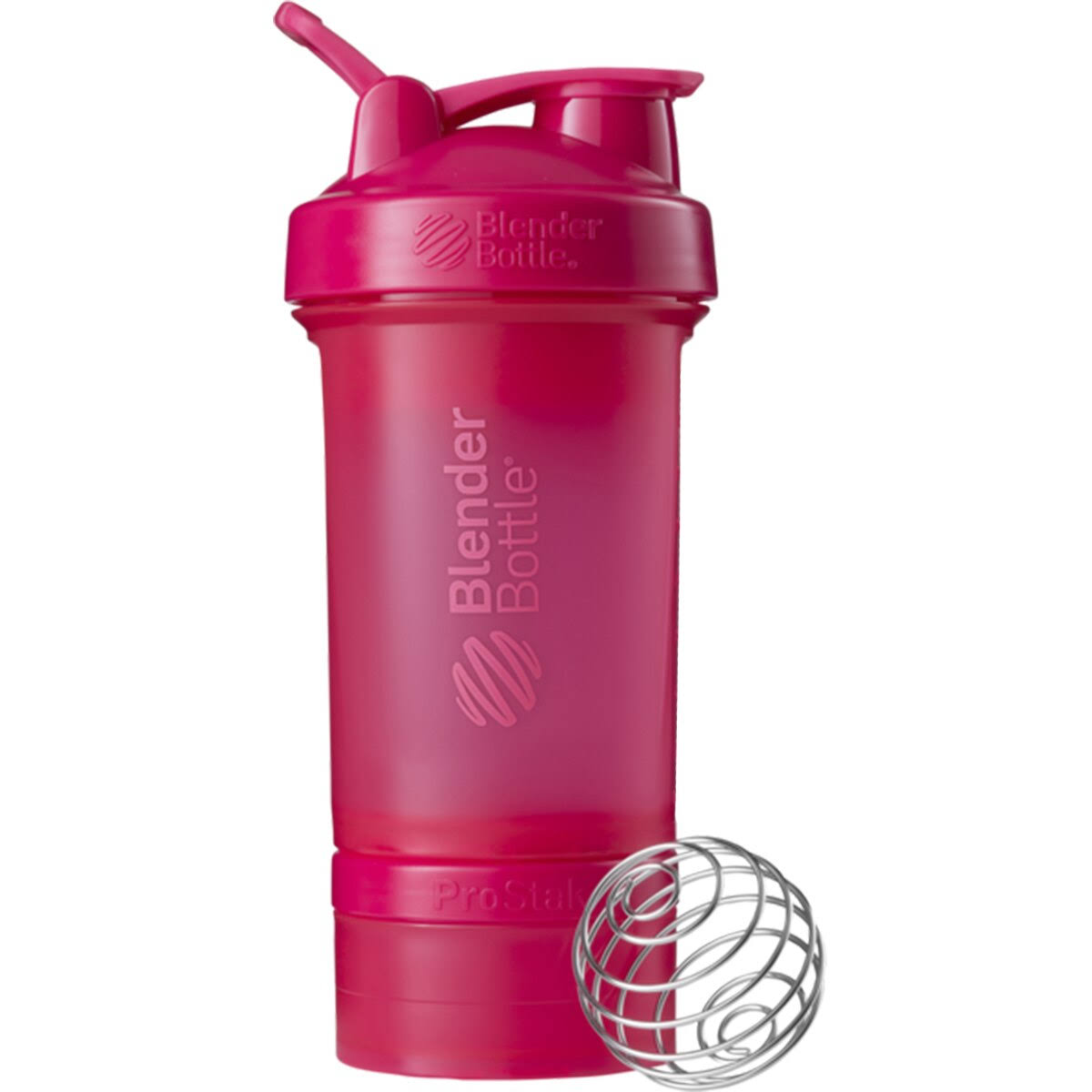 Blender Bottle Pro Stak System­ with Bottle and Twist n' Lock Storage - Pink, 650ml
