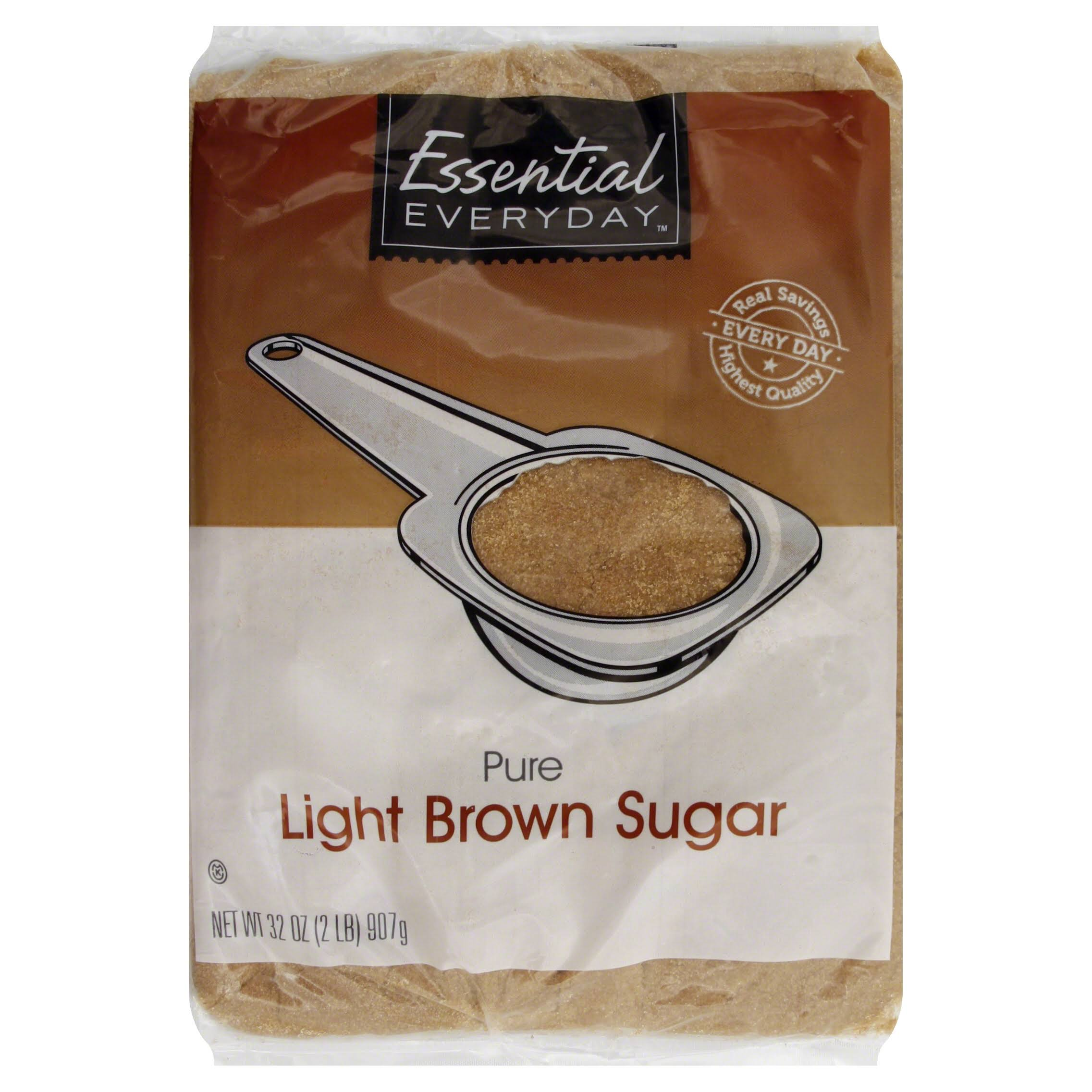 Essential Everyday Brown Sugar, Pure, Light - 32 oz