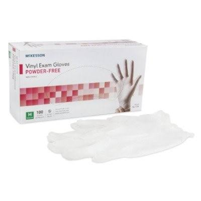 McKesson Disposable Vinyl Exam Gloves Powder-Free Medium - 100ct