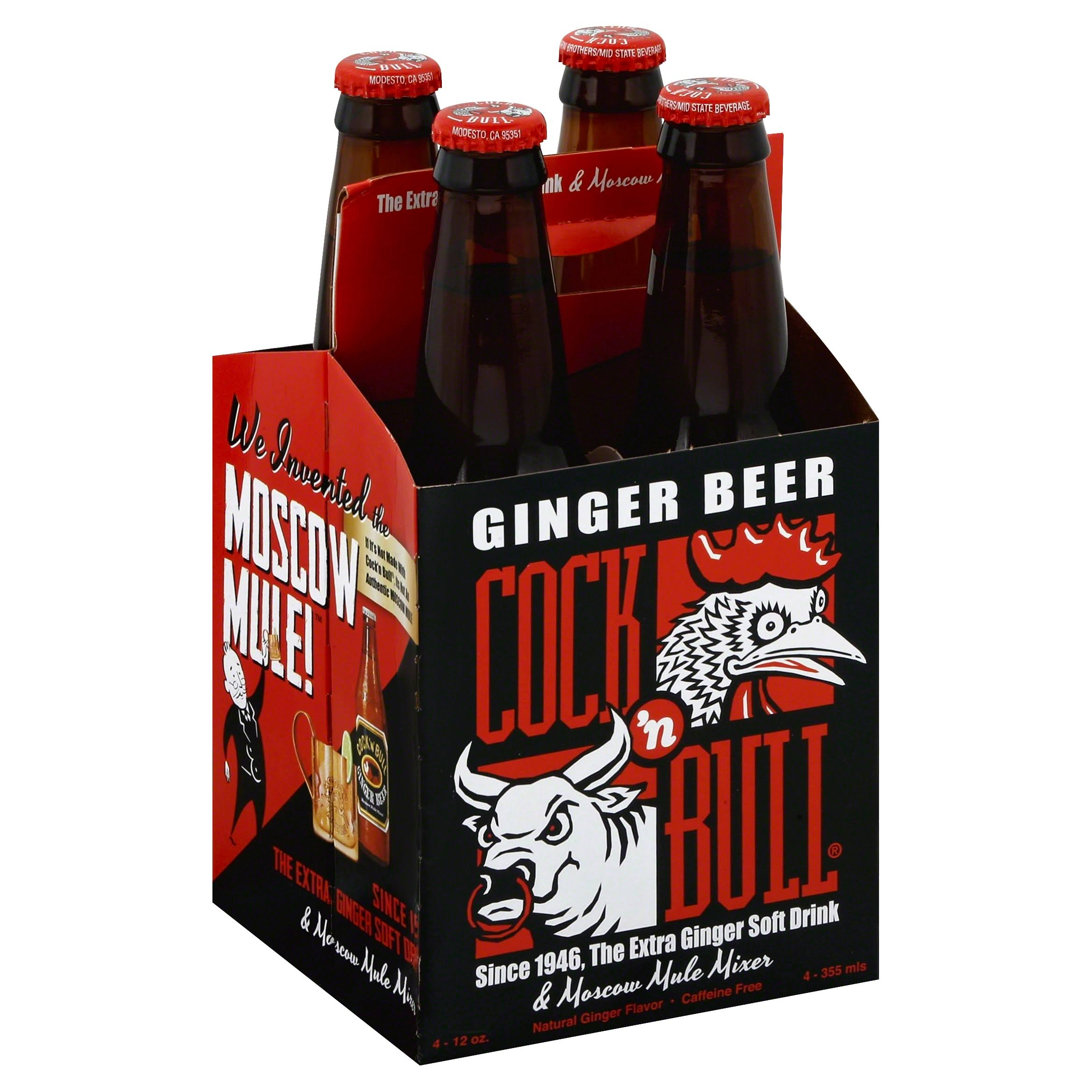 Cock & Bull Ginger Beer - 4 pack, 12 fl oz bottles