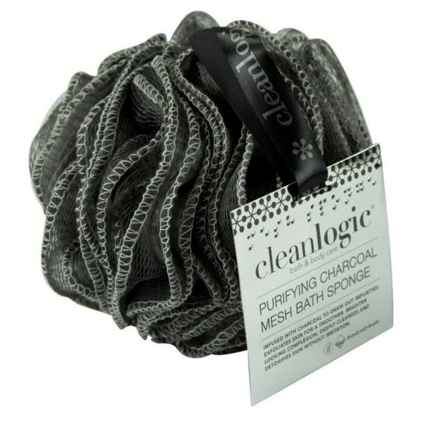 Clean Logic Purifying Charcoal Mesh Bath Sponge