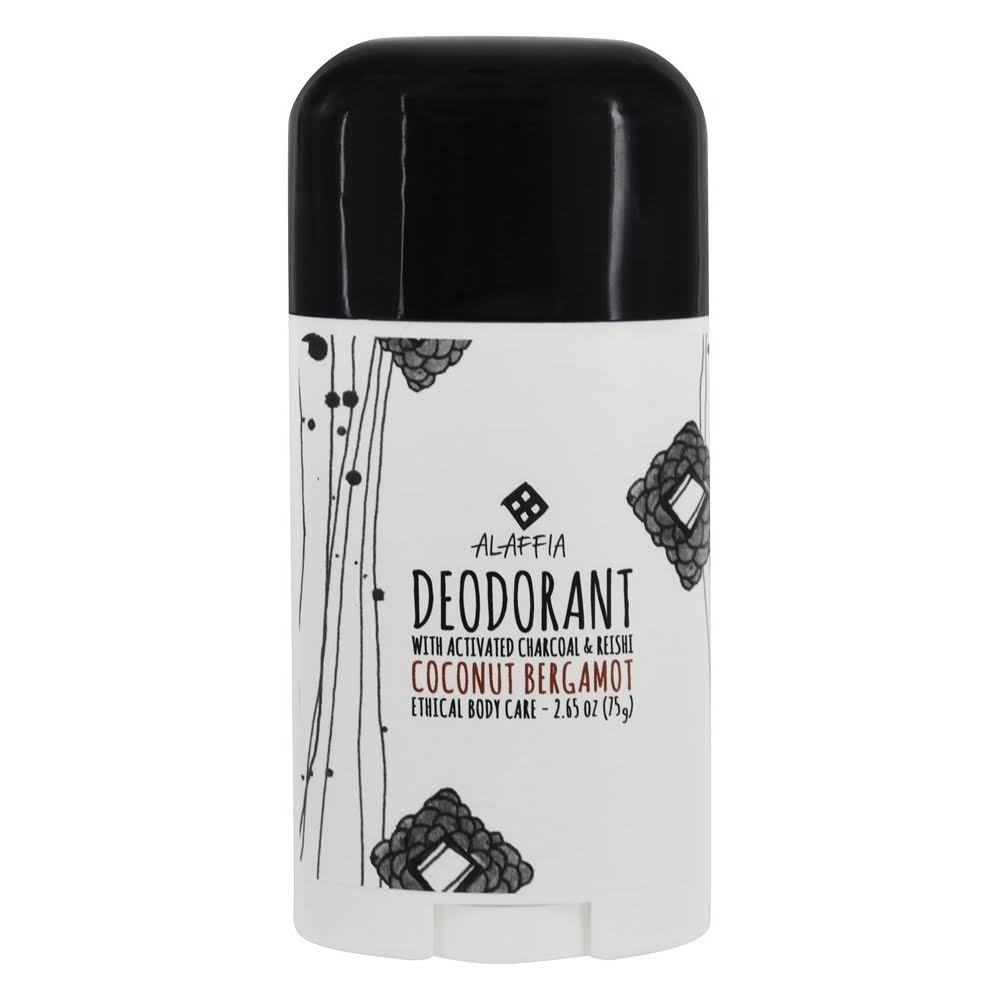 Alaffia Coconut Reishi Deodorant - Bergamot and Charcoal, 2.65oz