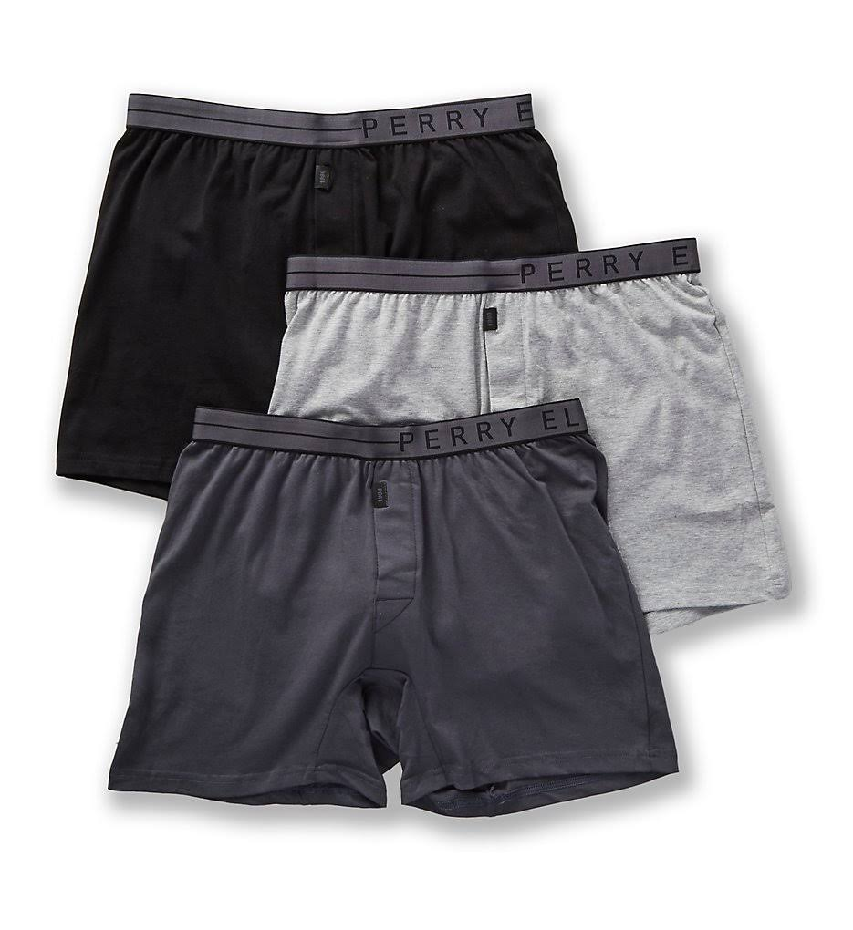 Men's Perry Ellis 208001 Conformity Cotton Stretch Boxer Briefs - 3 Pack