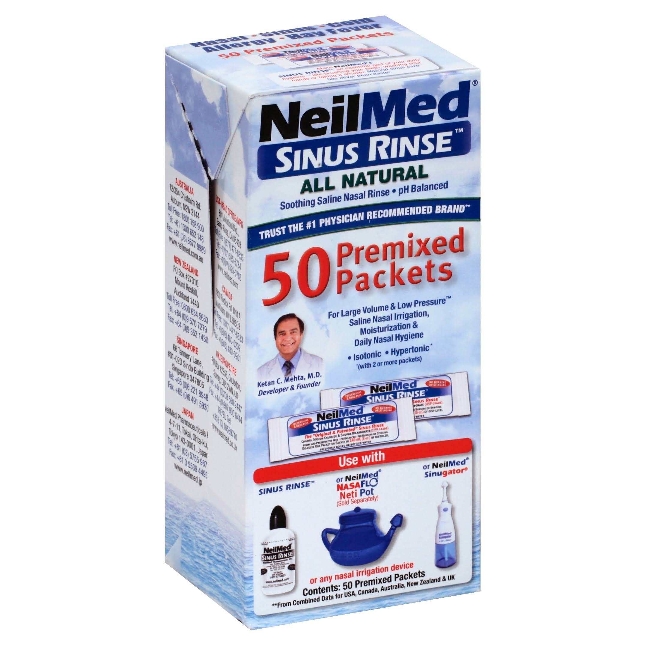 Neil Med Sinus Rinse Premixed Packets - 50pk