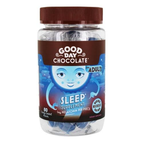 Good Day Melatonin Natural Sleep Aid Supplement - Chocolate, 80ct