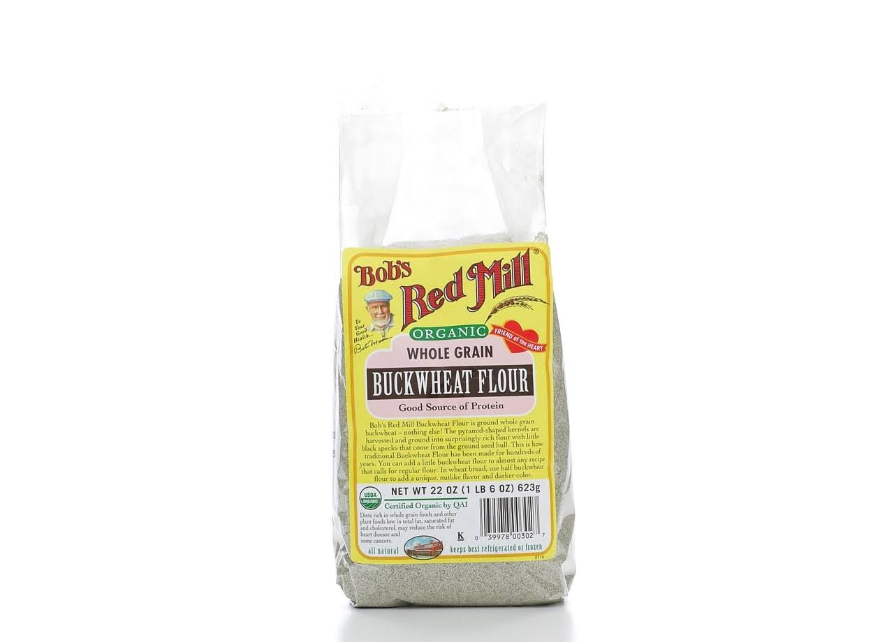 Bobs Red Mill Flour, Buckwheat, Organic - 22 oz