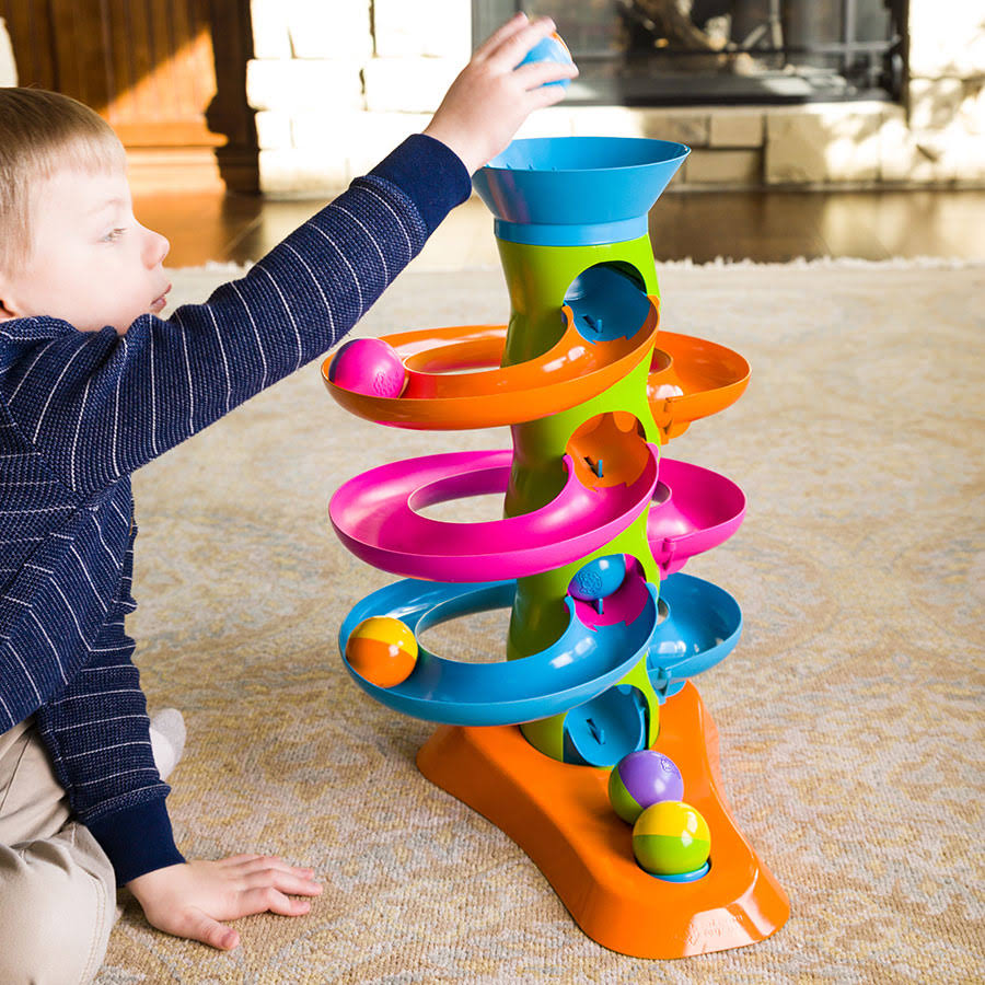 Fat Brain Rollagain Tower Baby Toy