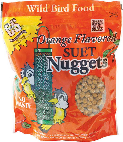 C and S Products Suet Nuggets - Orange, 27oz