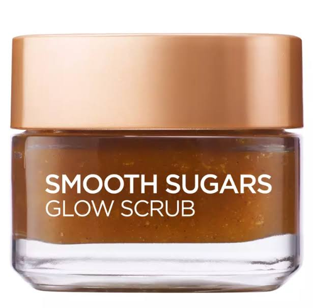 L'Oreal Paris Smooth Sugar Glow Grapeseed Face and Lip Scrub 50ml