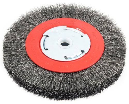 "Forney 72750 Wire Bench Wheel Brush - 6"" x 1/2"" and 5/8"""