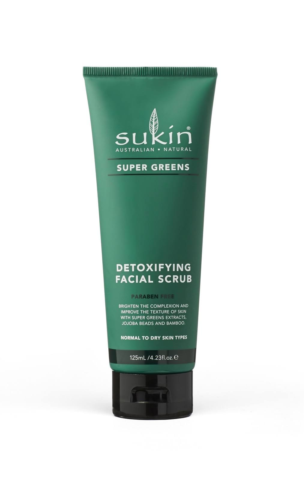 Sukin Super Greens Detoxifying Facial Scrub - 125ml