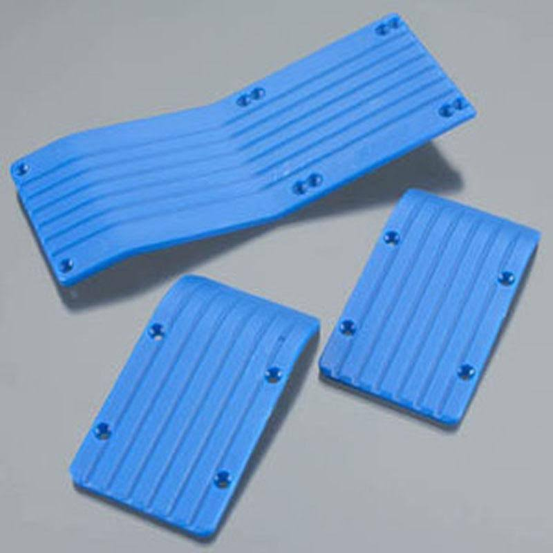 RPM Skid Plate Set T/E-Maxx Blue (3)