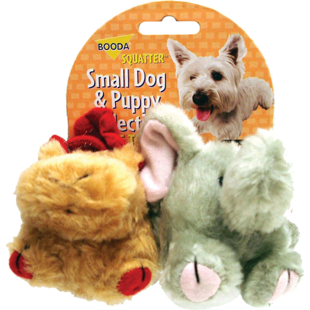 Booda Products Squatter Moose Elephant Dog Toy - 2pk