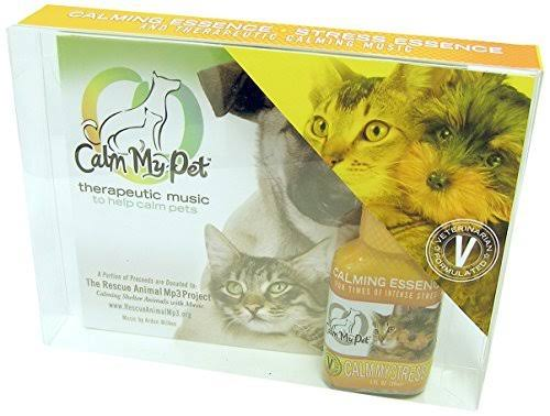 Calm My Pet Calm My Stress Kit - Unscented Organic Calm My Stress Essence and Soothing Music
