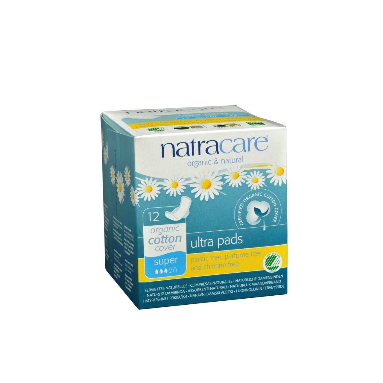 Natracare Super Ultra Pads with Wings - 12pcs