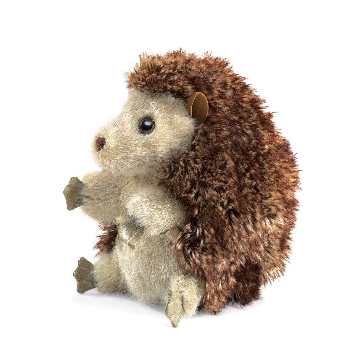 Folkmanis Hedgehog Hand Puppet Soft Toy - 7""