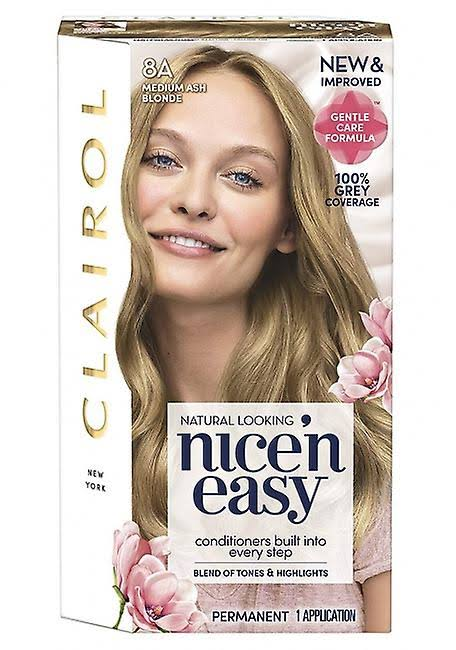 Nice'n Easy Permanent Hair Dye - 8A Medium Ash Blonde