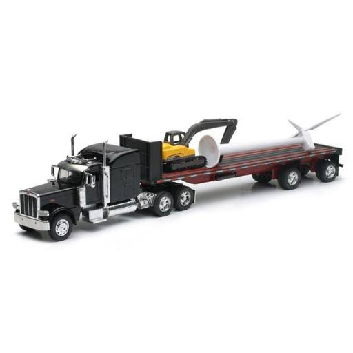 New Ray Peterbilt 389 Flatbed with Wind Turbine - 1:32 Scale
