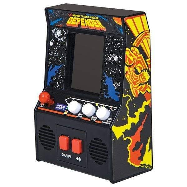 Schylling Retro Miniature Arcade Game - Classic Electronic Defender Video Game Machine
