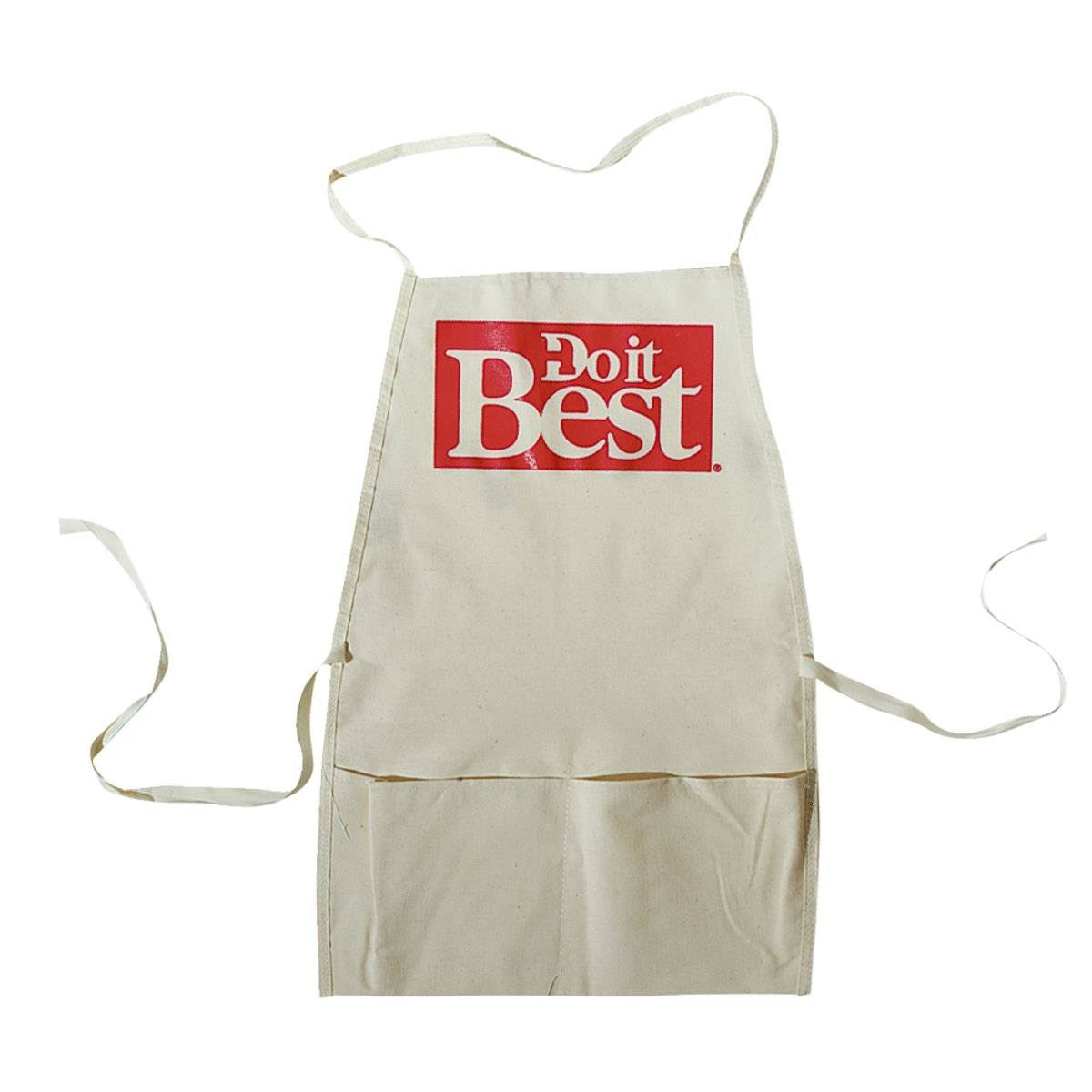 Custom Leathercraft Bib Apron - White