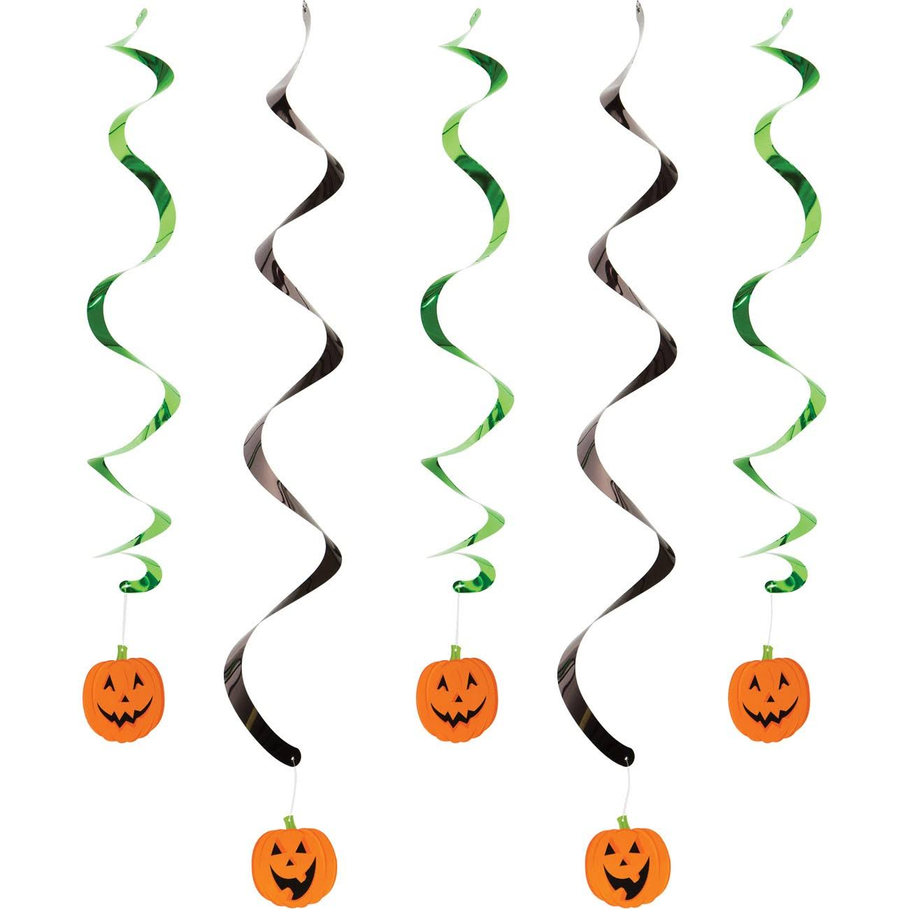 Hoffmaster Group Decor Pumpkin Faces Dizzy Danglers - 5pk