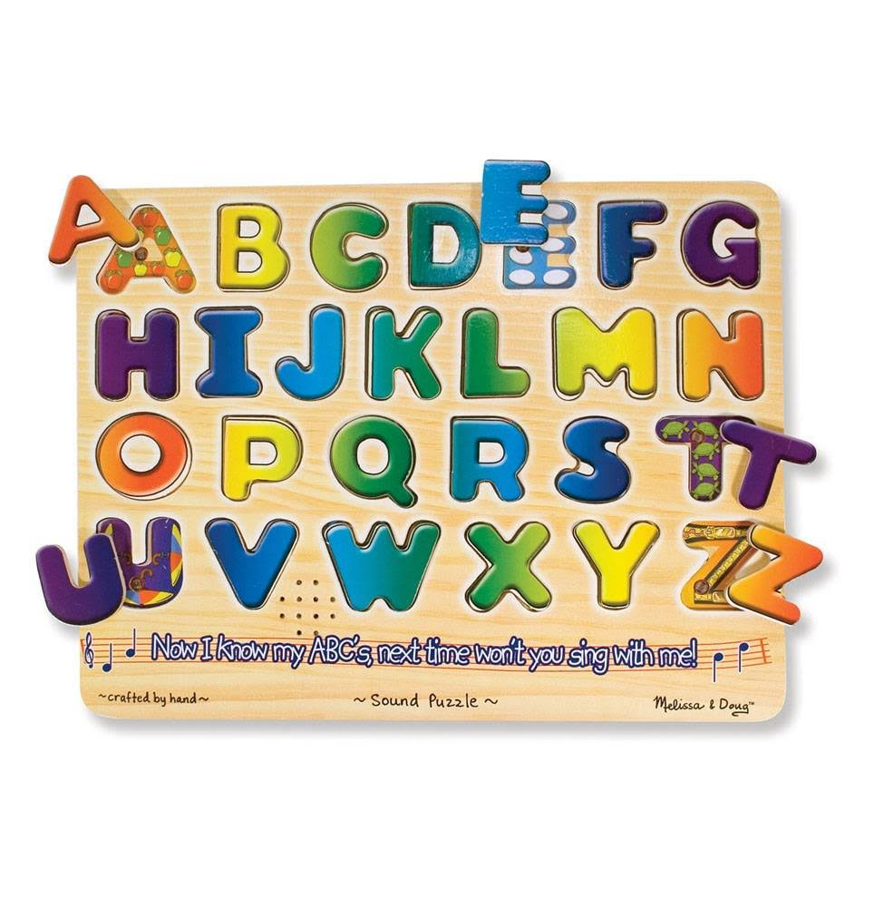 Melissa & Doug Learn Your ABC's Wooden Sound Puzzle