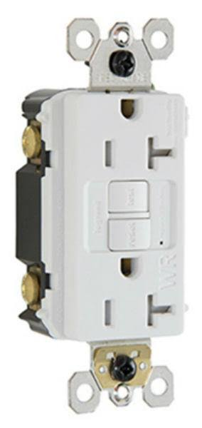 Pass and Seymour 2097TRWRWCCD4 Self Testing and GFCI Receptacle - White, 20amp