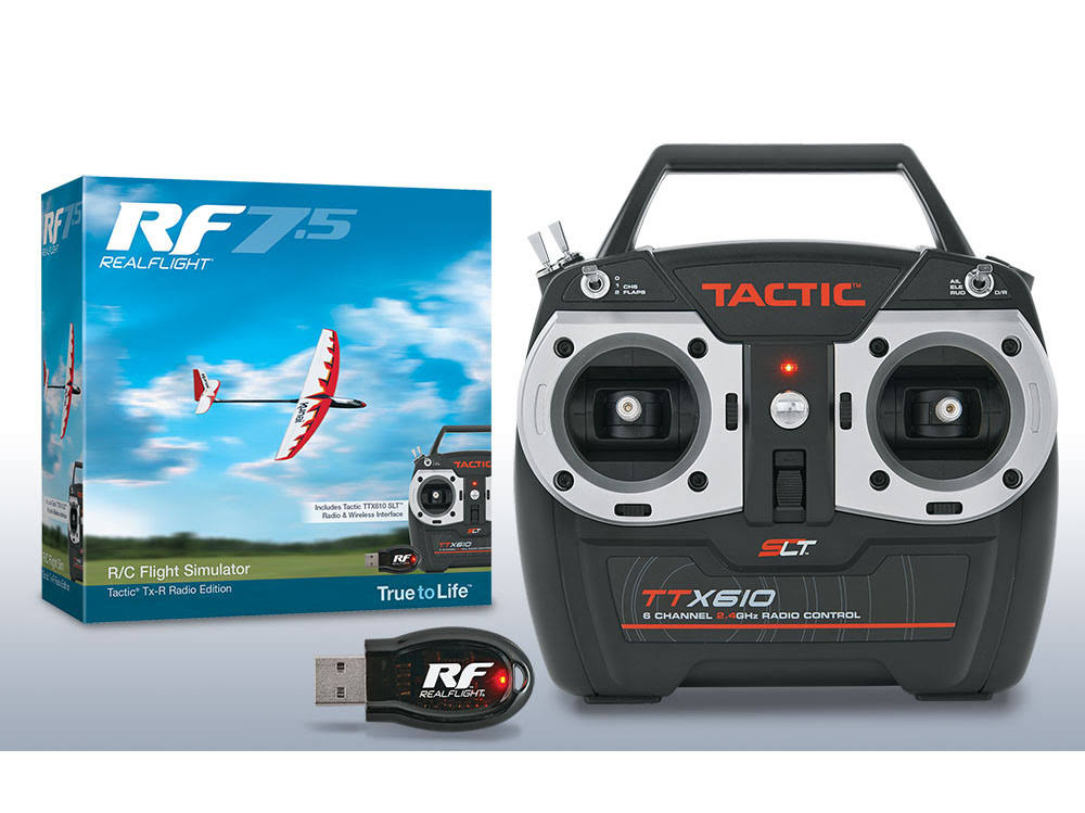 Great Planes TTX610 Real Flight Tactic Transmitter Real Flight - 7.5 Simulator