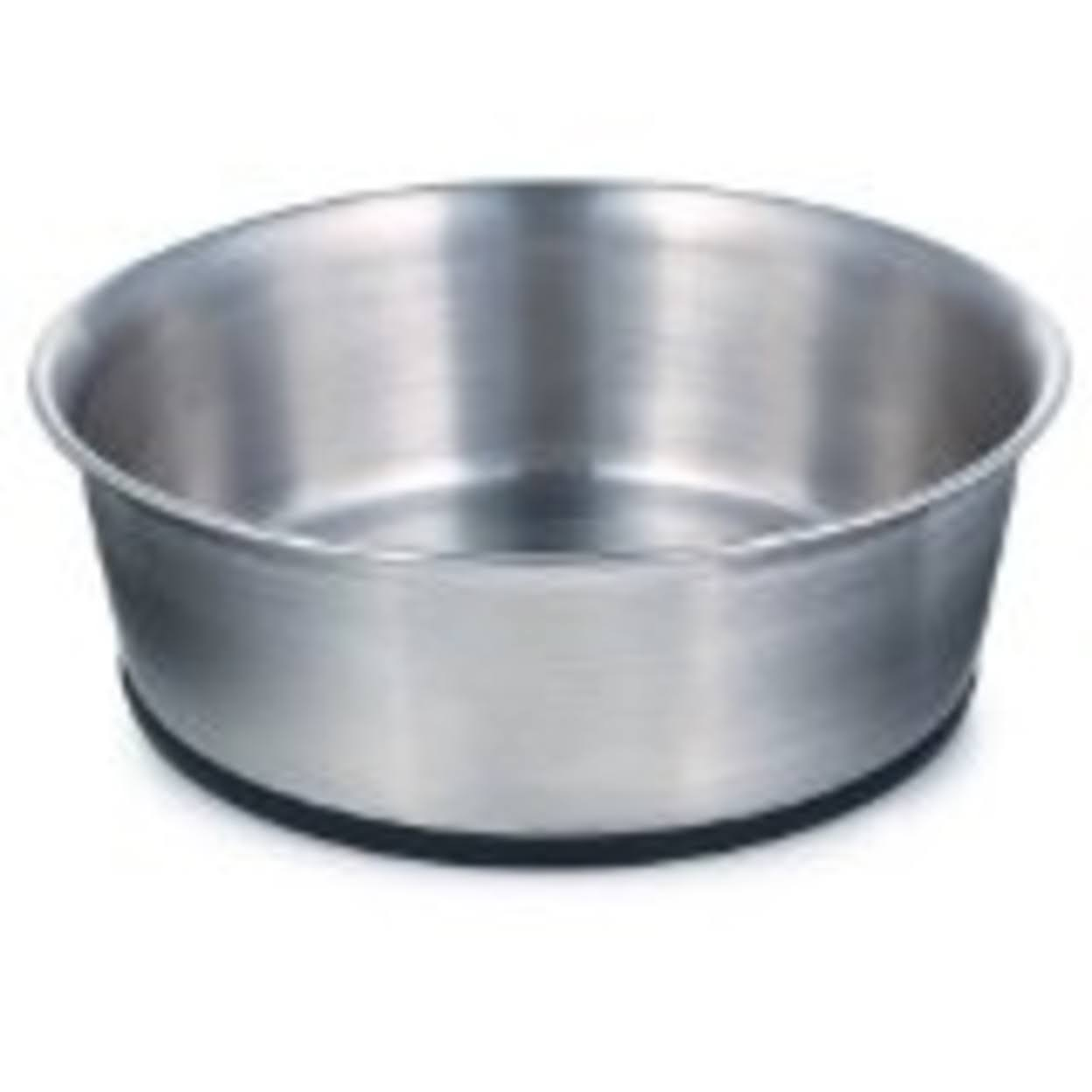 ProSelect Stainless Steel Pet Bowl With Rubber Base - 30 Oz