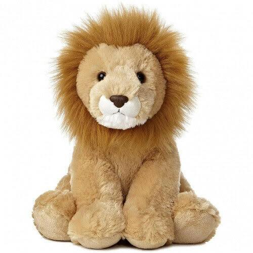 Aurora World Sitting Lion Stuffed Toy - 12""