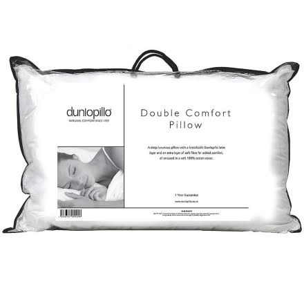 Dunlopillo Double Comfort Soft Fibre and Breathable Latex Pillow